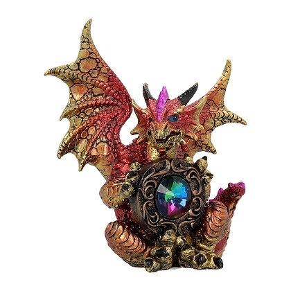 Rainbow Guardian Dragon Ornament 15cm