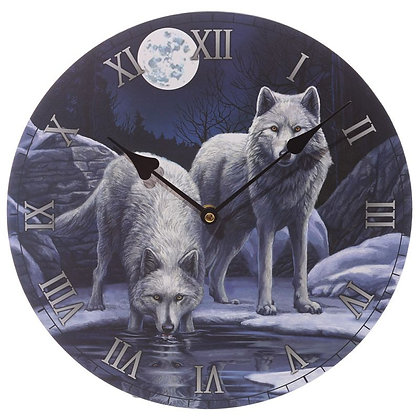 Warriors of Winter Wolf - Lisa Parker Clock