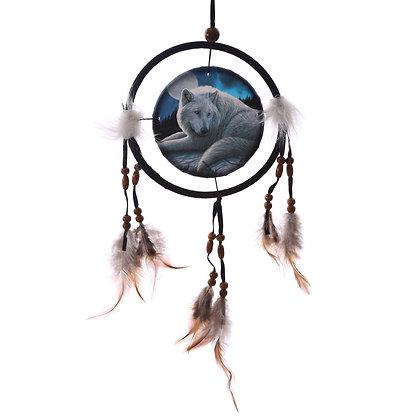 Guardian of The North Wolf Lisa Parker Dreamcatcher - 16cm