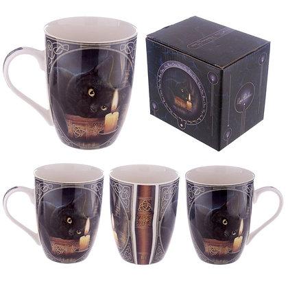 Witching Hour Cat Bone China Mug (Lisa Parker)
