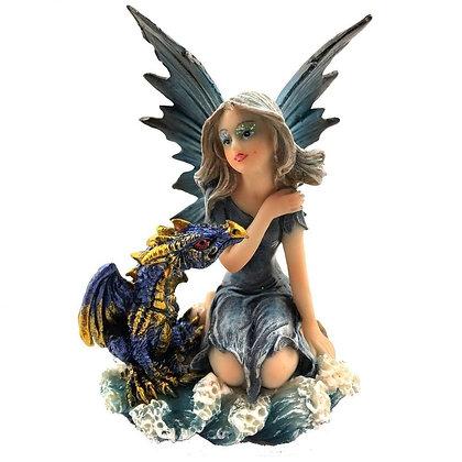 Companions of the Deep Fairy and Dragon Ornament 9.8cm