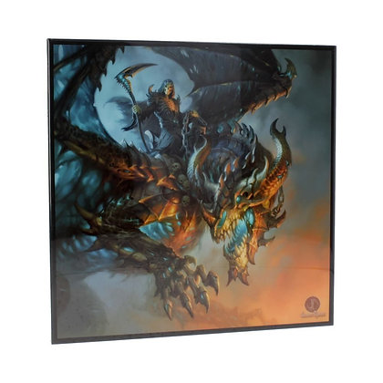 Wings of Death Reaper Crystal Clear 25cm Picture - James Ryman