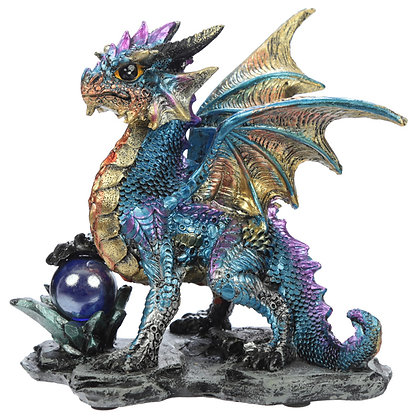 Crystal Rock Soothsayer Dragon Figure