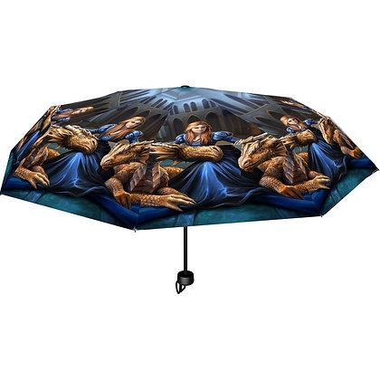 Fierce Loyalty Dragon - Anne Stokes Umbrella