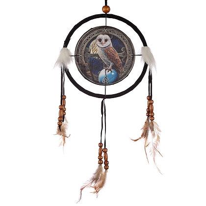 Barn Owl Lisa Parker Dreamcatcher - 16cm
