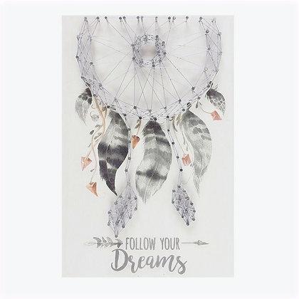 Dreamcatcher String Art Wall Plaque (Grey)