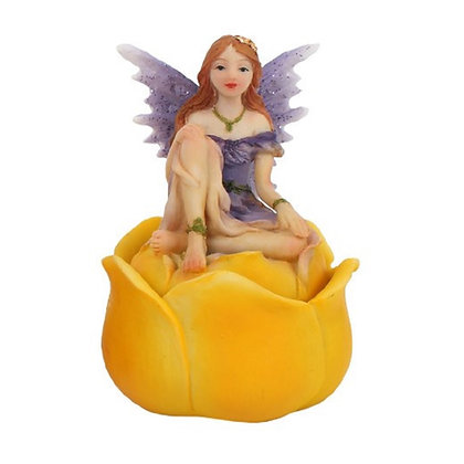 Purple Fairy Trinket Box Ornament 7.5cm