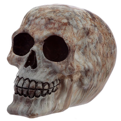 Marble Effect Skull Ornament