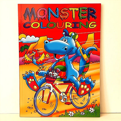 A4 Monster Colouring Book - Red