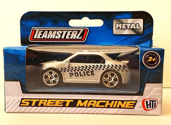 Teamsterz Street Machine Sporty Police Car - Silver