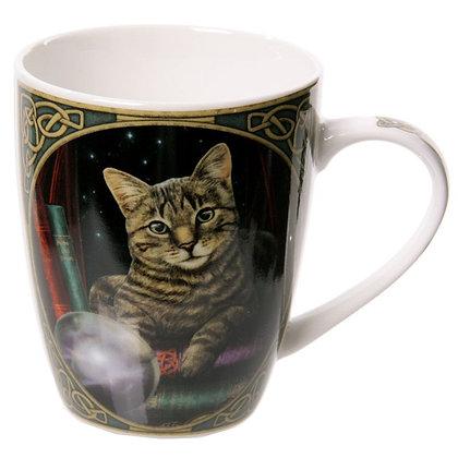 Fortune Teller Cat Bone China Mug (Lisa Parker)