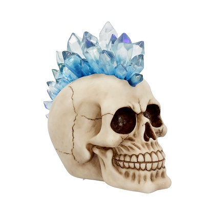 Crystal Hawk Skull Head Ornament 18cm