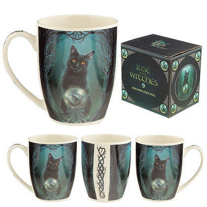 Rise of the Witches Cat Porcelain Mug (Lisa Parker)