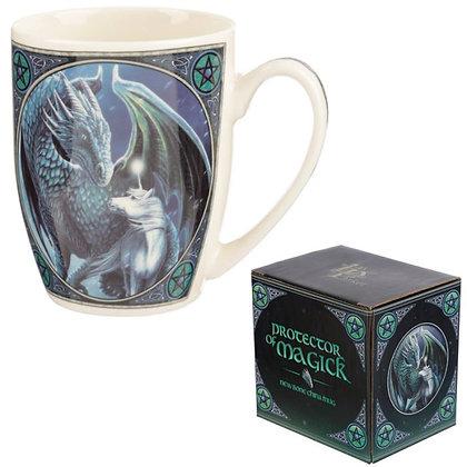 Protector of Magick Dragon Bone China Mug (Lisa Parker)