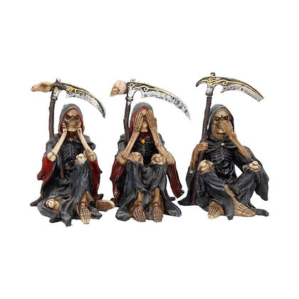 Something Wicked Reaper Ornament - 9.5 cm (Set of 3)