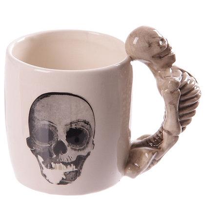 Ceramic Skeleton Shaped Handle Mug
