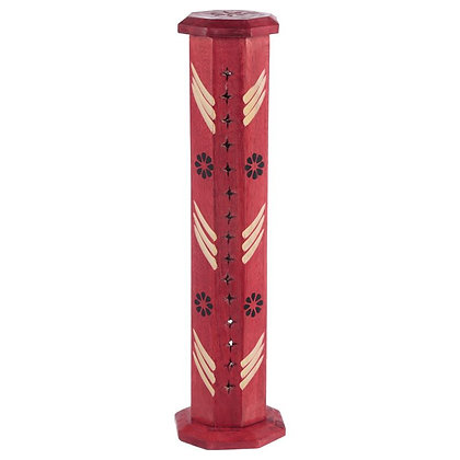 Red Mango Wood Bold Incense Burner Tower