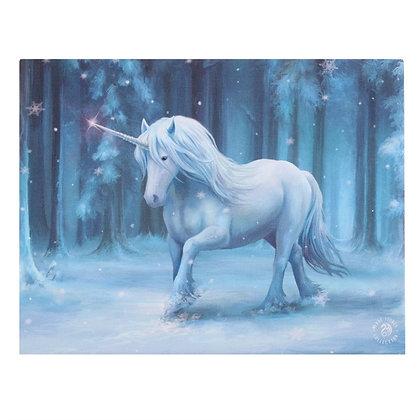 Winter Wonderland Unicorn - Anne Stokes Canvas