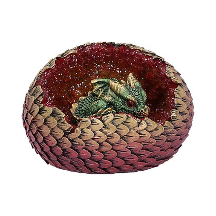 Geode Home Green Dragon Ornament 10.7cm