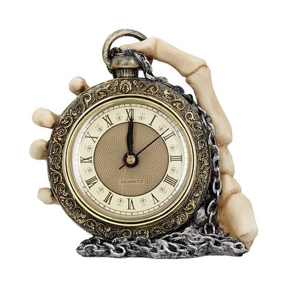 About Time Skeleton Hand Clock - 14cm