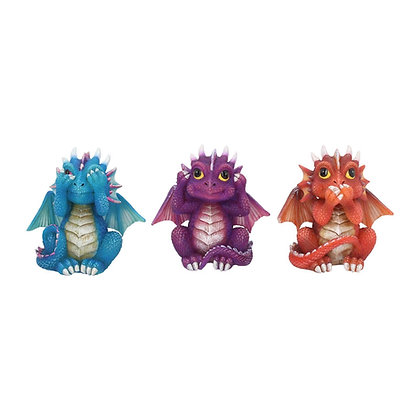 Three Wise Dragonling Ornaments 8.5cm