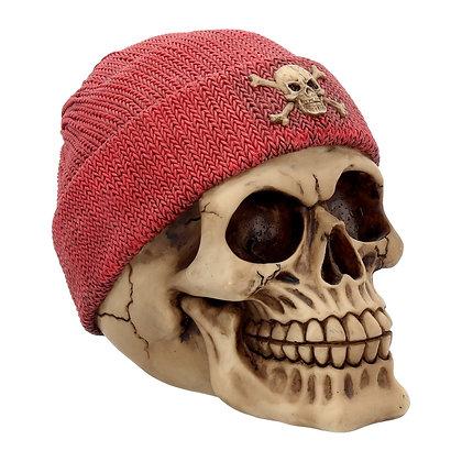 Beanie Red Skull Head Ornament 17cm