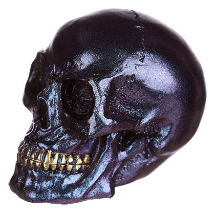 Purple Iridescent Skull Head Ornament