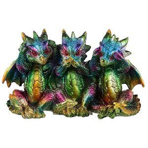 See, Speak, Hear No Evil, Rainbow Dragon Figure