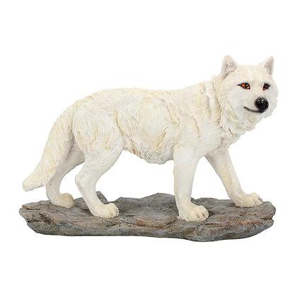 Mountain Watcher Wolf Ornament 21cm