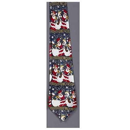 Christmas Musical Tie (Santa and Snowmen)