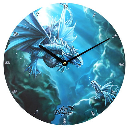 'Age of Dragons' Water Dragon - Anne Stokes Clock