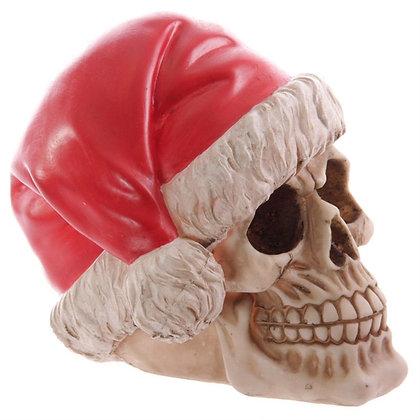 Festive Christmas Skull 15.5cm