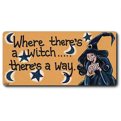 Witch Smiley Magnet