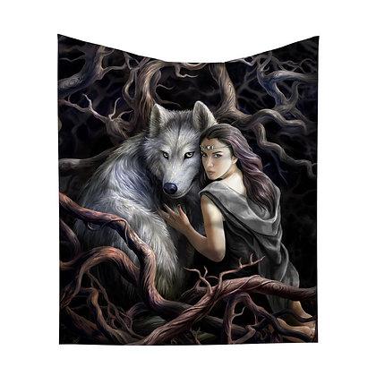 Soul Bond Wolf Throw 160cm - Anne Stokes