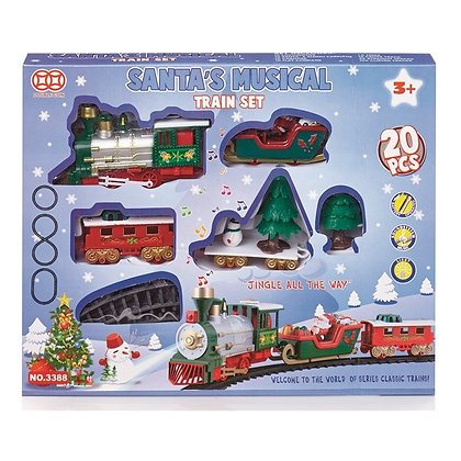 Santas Musical 20 piece Christmas Train Set