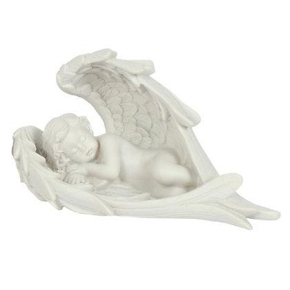 Cherub Sleeping in Wings Ornament
