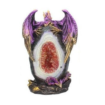 Geode Keeper Dragon Ornament 12cm