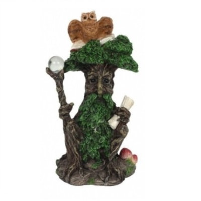 Green Man Ornament With Owl - 12cm