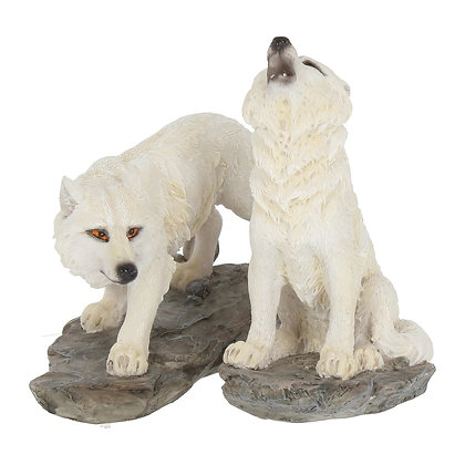Before The Chase Wolf Ornaments (Set of 2) 9.8cm