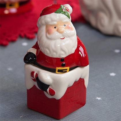 Santa and Chimney Christmas Salt and Pepper Set