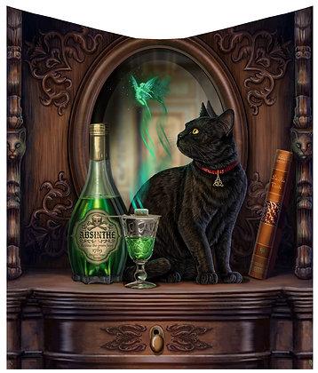 Absinthe Cat Throw 160cm - Lisa Parker