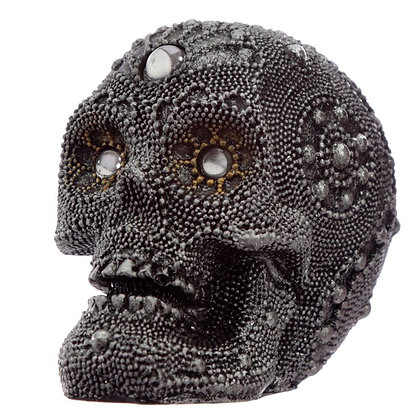 Beaded Skull Head Ornament
