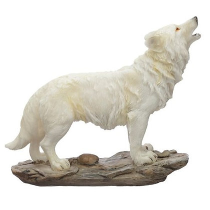 Protector of The North Spirit of The Night Wolf Ornament - 14cm