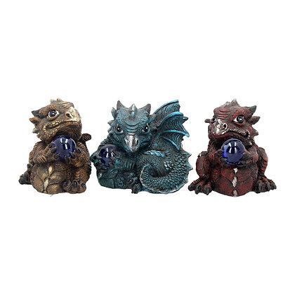 Citrene, Aquamarine & Ruby Dragons (Set of 3) 8cm