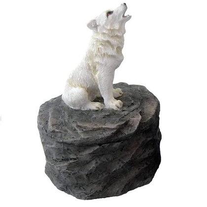 Loyal Guardians Wolf Trinket Box Ornament 8cm