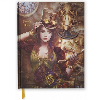 Steampunk Blank Sketch Book