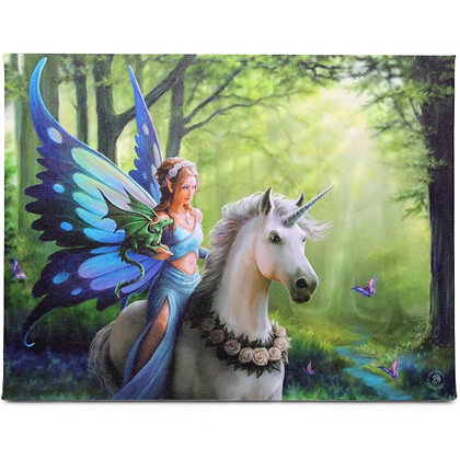 Realm of Enchantment Unicorn - Anne Stokes Canvas