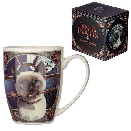 Hocus Pocus Cat Bone China Mug (Lisa Parker)