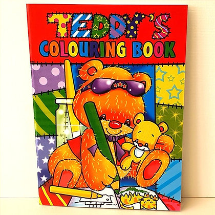 A4 Teddy's Colouring Book - Red