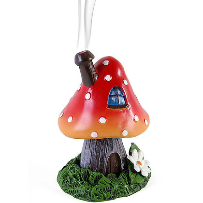 Red Smoking Toadstool Incense Cone Holder (Lisa Parker)